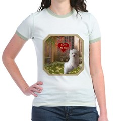 Maltese Puppy Jr. Ringer T-Shirt