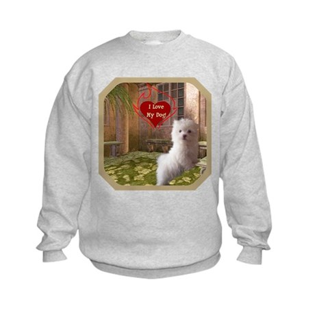 Maltese Puppy Kids Sweatshirt