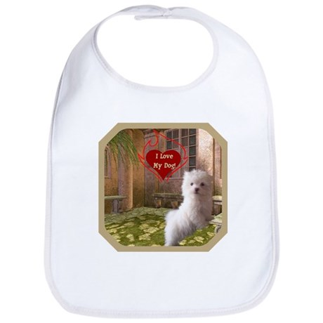 Maltese Puppy Bib