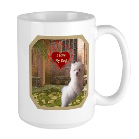 Maltese Puppy Large Mug
