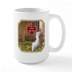 Maltese Puppy Large Mug