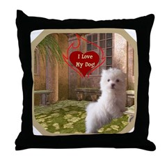 Maltese Puppy Throw Pillow