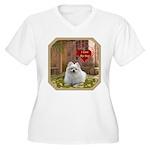 Pomeranian Women's Plus Size V-Neck T-Shirt