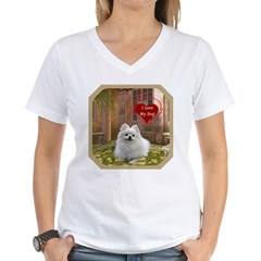 Pomeranian Women's V-Neck T-Shirt