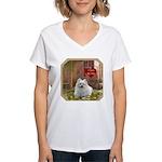 Pomeranian Women's V-Neck T-Shirt