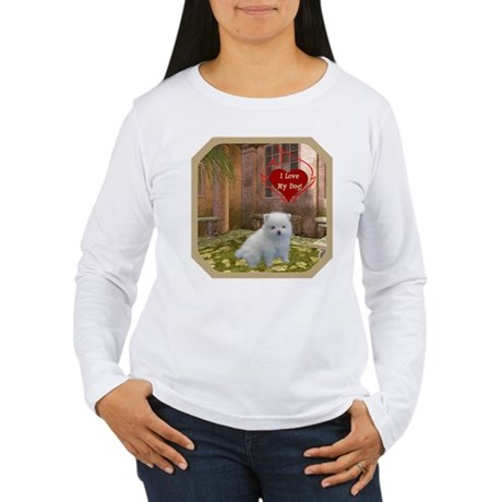 Pomeranian Puppy Women's Long Sleeve T-Shirt