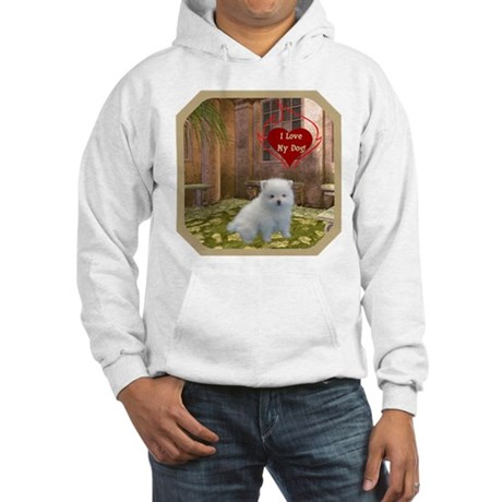 Pomeranian Puppy Hooded Sweatshirt