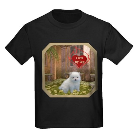 Pomeranian Puppy Kids Dark T-Shirt
