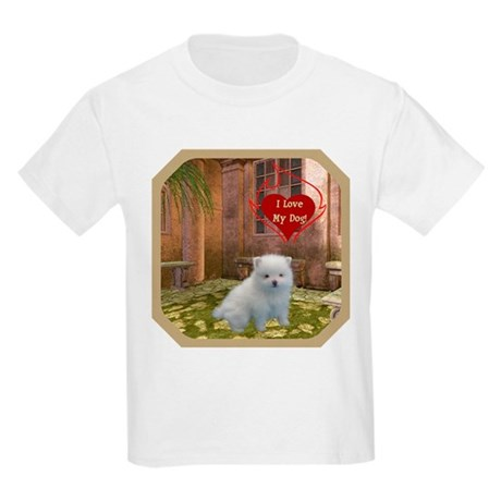 Pomeranian Puppy Kids Light T-Shirt