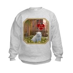 Pomeranian Puppy Kids Sweatshirt