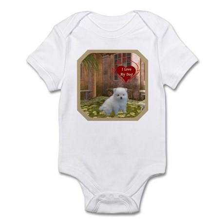 Pomeranian Puppy Infant Bodysuit