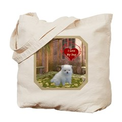 Pomeranian Puppy Tote Bag