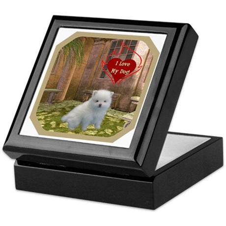 Pomeranian Puppy Keepsake Box