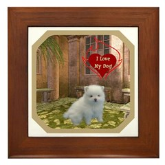 Pomeranian Puppy Framed Tile