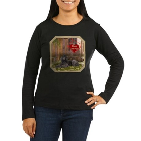Poodle Women's Long Sleeve Dark T-Shirt