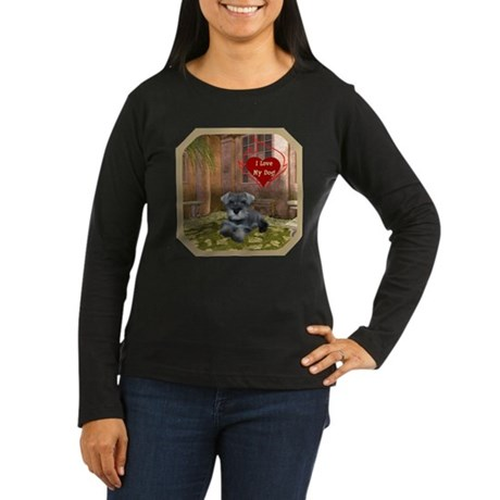 Schnauzer #1 Women's Long Sleeve Dark T-Shirt