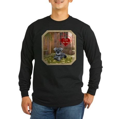 Schnauzer #1 Long Sleeve Dark T-Shirt