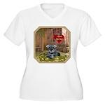 Schnauzer #1 Women's Plus Size V-Neck T-Shirt