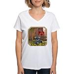 Schnauzer #1 Women's V-Neck T-Shirt