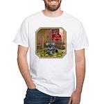 Schnauzer #1 White T-Shirt