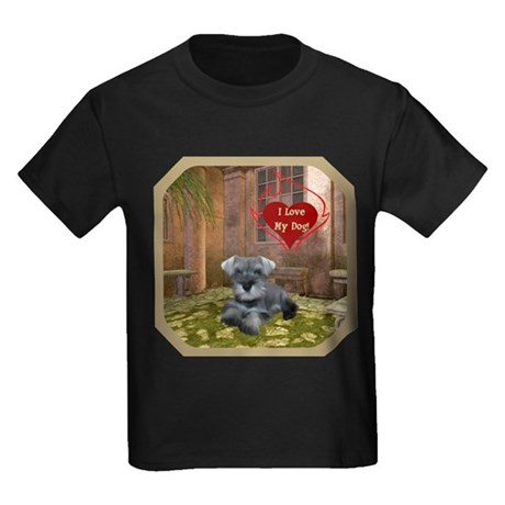 Schnauzer #1 Kids Dark T-Shirt