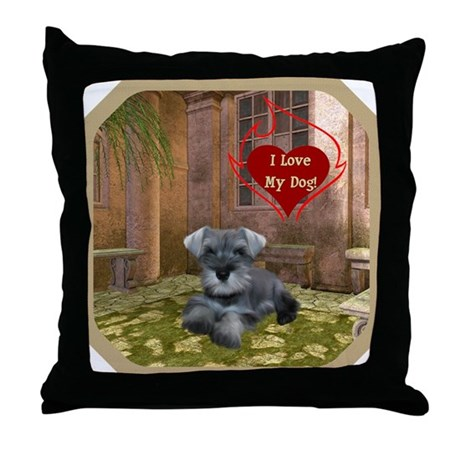 Schnauzer #1 Throw Pillow