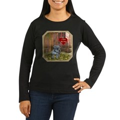 Schnauzer #2 Women's Long Sleeve Dark T-Shirt