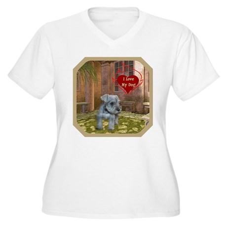 Schnauzer #2 Women's Plus Size V-Neck T-Shirt