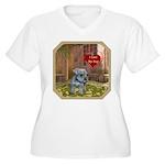 Schnauzer #2 Women's Plus Size V-Neck T-Shirt