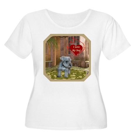 Schnauzer #2 Women's Plus Size Scoop Neck T-Shirt