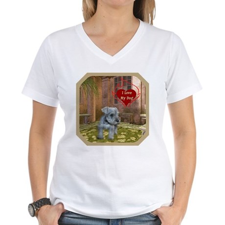 Schnauzer #2 Women's V-Neck T-Shirt