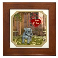 Schnauzer #2 Framed Tile