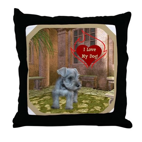 Schnauzer #2 Throw Pillow