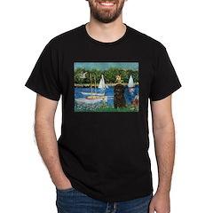 Sailboats / Affenpinscher Dark T-Shirt