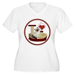 Cat #1 Women's Plus Size V-Neck T-Shirt