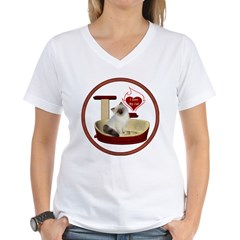 Cat #1 Women's V-Neck T-Shirt