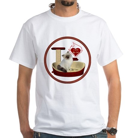Cat #1 White T-Shirt