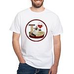Cat #1 White T-Shirt