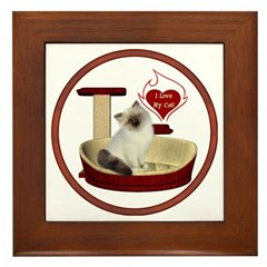Cat #1 Framed Tile