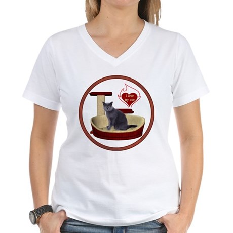 Cat #2 Women's V-Neck T-Shirt