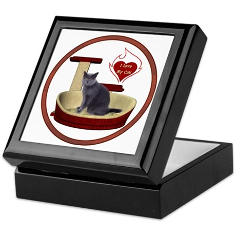 Cat #2 Keepsake Box