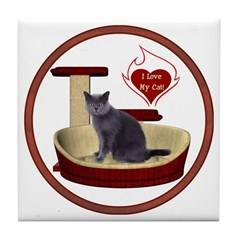 Cat #2 Tile Coaster