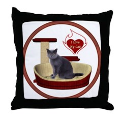 Cat #2 Throw Pillow