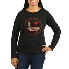 Cat #3 Women's Long Sleeve Dark T-Shirt