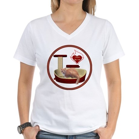 Cat #3 Women's V-Neck T-Shirt