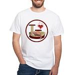 Cat #3 White T-Shirt
