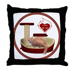 Cat #3 Throw Pillow