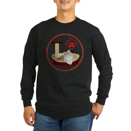 Cat #4 Long Sleeve Dark T-Shirt