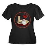 Cat #4 Women's Plus Size Scoop Neck Dark T-Shirt