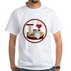 Cat #4 White T-Shirt
